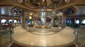 slider bar : Cruise ship luxury interior. Atrium hall and promenade - Royal Caribbean