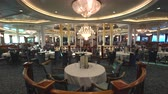 atrium : Elegant restaurant interior. Cruise ship interior - Royal Caribbean