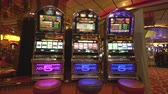 poker : Gambling room inside view - slot machine