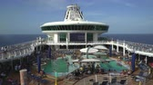 pool deck : Cruise ship pool deck, swimming pool - Royal Caribbean