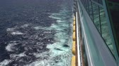 pool deck : Cruise ship moving at sea. Overlook ocean - Royal Caribbean