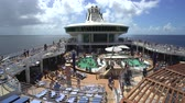 sun bathing : Cruise ship pool deck, swimming pool - Royal Caribbean