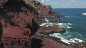 socorro : Aerial view of ocean cliff, steep rocky coastline - San Benedict Island