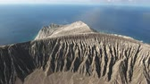 socorro : Flight over volcanic crater in a volcanic island - San Benedict, Mexico