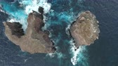 socorro : Aerial view of ocean cliff, rock, reef - San Benedicto Island Stock Footage