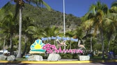 martin : St Maarten sign - Netherlands Antilles Stock Footage