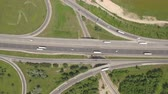 expansão : Aerial view of motorway junction, freeway intersection Vídeos