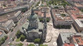 catholic church : Aerial shot of downtown Budapest - St. Stephens Basilica, Hungary