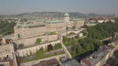 pó : Aerial view of Budapest - Buda castle, Hungary Stock Footage