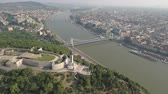 наивысший : Aerial view of Budapest - Citadell, Liberty statue, Danube river, Hungary