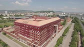 riverside : Aerial view of Budapest - ELTE University, Hungary Stock Footage