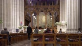 dc : National Cathedral interior, episcopal church - Washington DC Stock Footage
