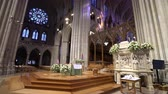 Вашингтон : National Cathedral interior, episcopal church - Washington DC Стоковые видеозаписи