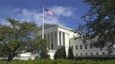government district : Us Supreme Court Building, slider shot - Washington DC