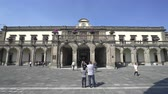 терраса : Chapultepec castle building, park - Mexico City, Mexico Стоковые видеозаписи