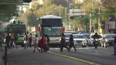 lote : Mexico City traffic, downtown street scene. Overpopulated city