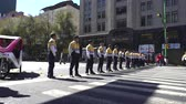 terrorist : Police officers in formation on the street - Mexico City, Mexico