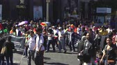 deficientes : Crowd of people demonstrating on Mexico City Street
