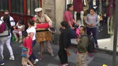 instrumentalist : Traditional Mexican street musician, organ grinder - Mexico City downtown