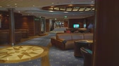 slider bar : Elegant lounge and bar interior in a cruise ship Stock Footage
