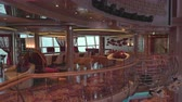 slider bar : Elegant, modern lounge and bar interior on a cruise ship