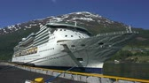 riccio : Cruise ship docked in port of Geiranger fjord - Norway