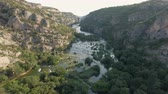 jeż : Aerial view of canyon and waterfall - Krka, ruby slap