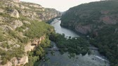 rubi : Aerial shot of canyon and waterfall - Krka, ruby slap