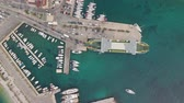 dalmatia : Aerial view of docked ferry boat in the port - Mediterranean sea