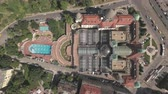 hungria : Aerial shot of Budapest, Hungary - Gellert spa and bath, Hungary