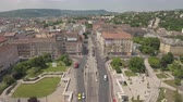 budapeşte : Aerial view of European city traffic - Budapest, Hungary