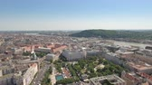 elizabeth : Aerial view of Budapest downtown - Elizabeth square, Hungary Stock Footage