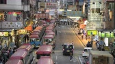 Timelapse of the crowded market in Hong Kong at night. Busy Fa Yuen or Sneaker Street Market - October 2018: Hong Kong, China
