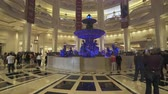 Parisian casino and hotel interior. French style resort and shopping mall, Gimbal tracking shot - October 2018: Macau, China