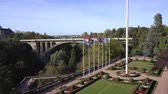 Pont Adolphe bridge, Parcs de la Petrusse park - September 2018: Luxembourg