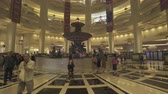parisiense : Parisian casino and hotel interior. French style resort and shopping mall, Gimbal tracking shot - October 2018: Macau, China