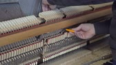 compositor : Tuning Piano. Close up shot of tuning piano