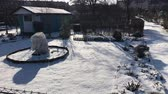 bucolique : Allotments in snowy winter time