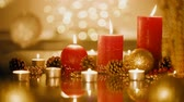 szyszka : Christmas and New Year holiday decorations. Candles.