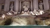Trevi fountain at dusk, this fountain is one of the most visited place in Rome.