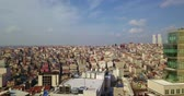 Istanbul - view of the roofs from a great height Stok Video