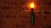 Bottle lamp turns on and off Stok Video