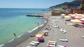 The coast and beaches of the Black sea in summer