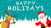 rena : Santa and Reindeer Speaking and Waving hand animation-Happy Holidays