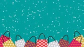 po celé délce : Stacked Shopping bags animation-Snowing background Dostupné videozáznamy