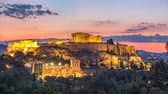 akropol : Parthenon, Acropolis of Athens, Greece - Timelapse of summer sunrise
