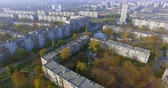 Autumn aerial view to residential area in Kharkiv, Ukraine