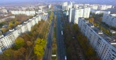 szovjet : Autumn aerial view to residential area and avenue on in Kharkiv