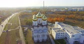 Aerial view to Orthodox church in Kharkiv, Ukraine