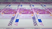 management : Seamless loop of 500 Euro banknotes printing